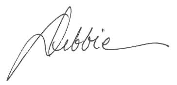 Debbie first name signature