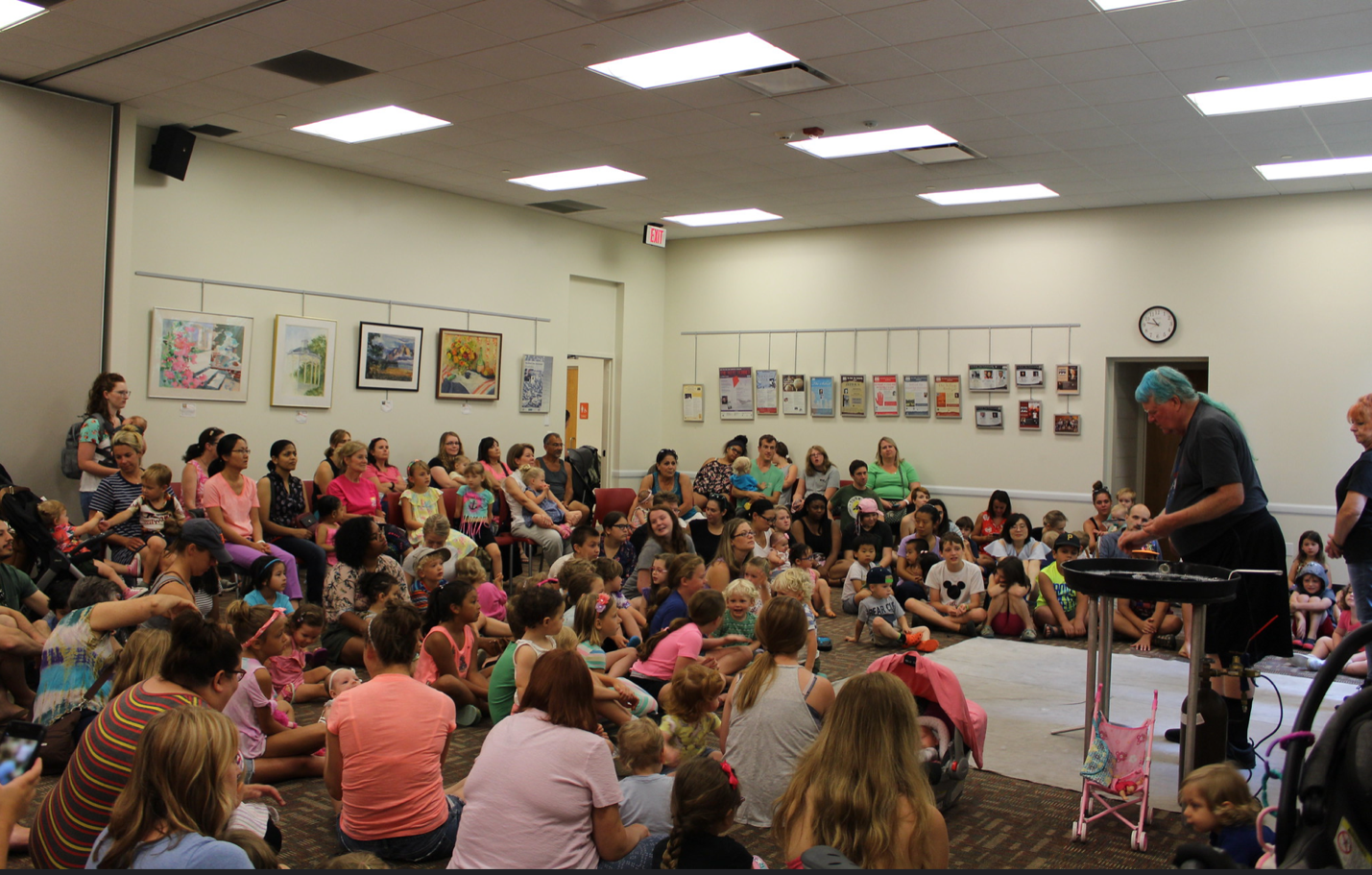 "East Lansing Public Library – ""Bubble Boy"" family program. These programs happen 4-5 times a week in the community room, all year long."