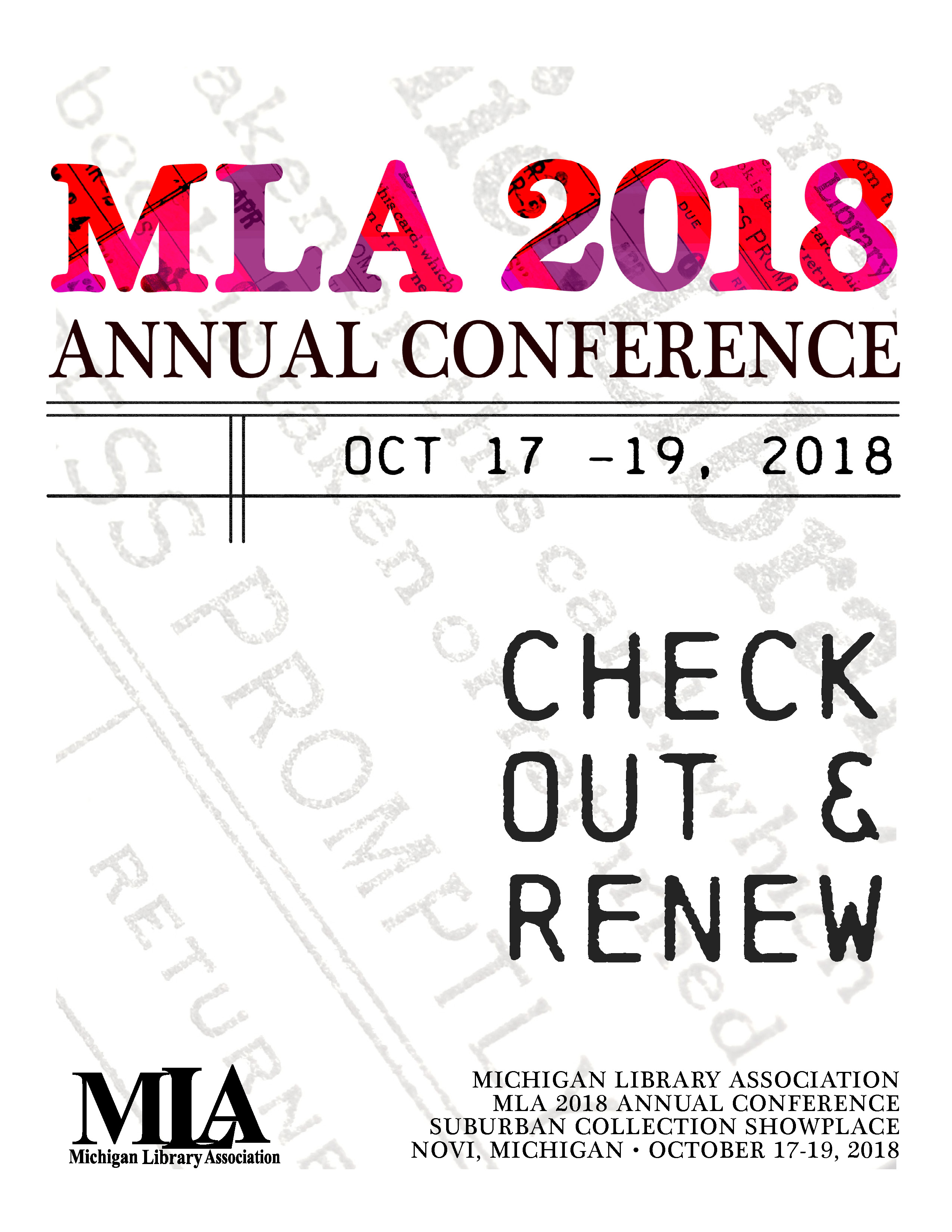 MLA 2018 Program Book Cover image - linked to program book pdf