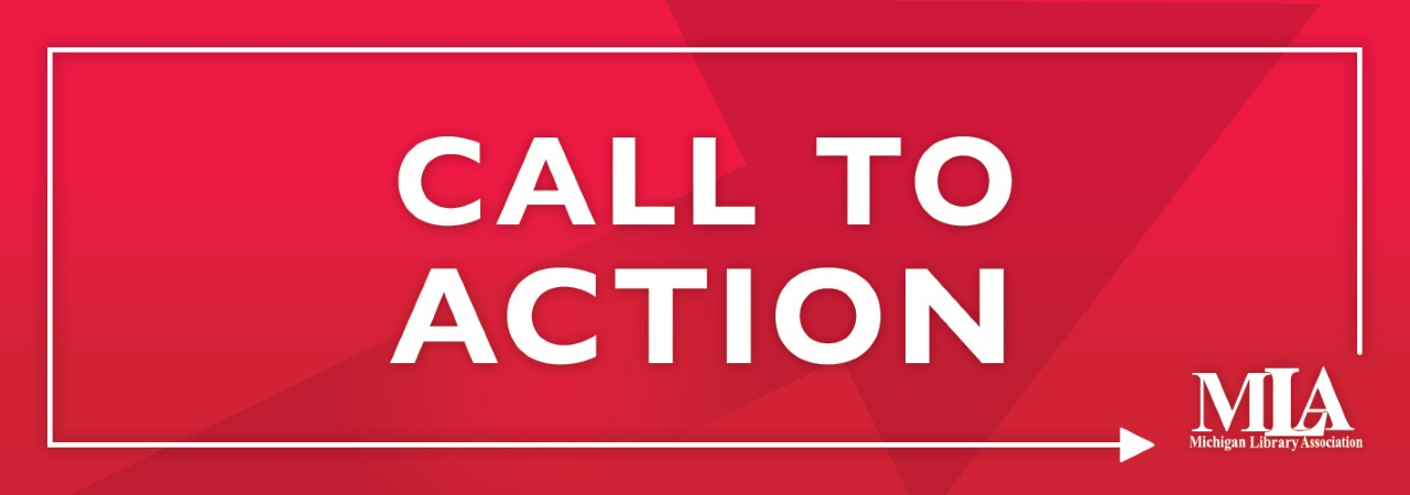red call to action graphic with arrow