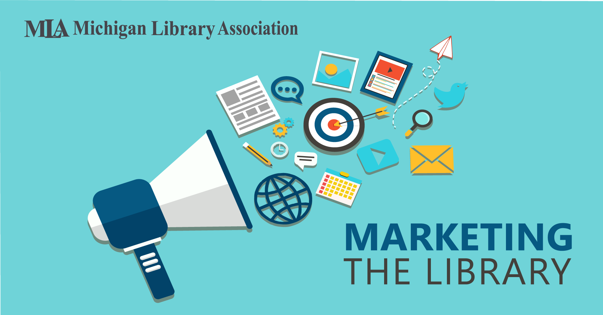 Marketing the library event logo