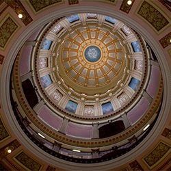 Interior image of the Michigan State Capitol Dome